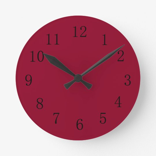 Nice Burgundy Red Kitchen Wall Clock
