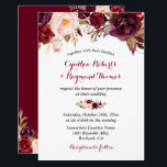 """Burgundy Red Marsala Floral Chic Fall Wedding Card<br><div class=""""desc"""">================= ABOUT THIS DESIGN ================= Burgundy Wine Marsala Floral Chic Fall Wedding Invitation. (1) For further customization, please click the &quot;Customize&quot; button and use our design tool to modify this template. The background color and text styles are changeable. (2) If you prefer a thicker paper, you may consider to choose...</div>"""