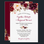 "Burgundy Red Marsala Floral Chic Fall Wedding Invitation<br><div class=""desc"">Burgundy Wine Marsala Floral Chic Fall Wedding Invitation. (1) For further customization, please click the &quot;customize further&quot; link and use our design tool to modify this template. (2) If you prefer Thicker papers / Matte Finish, you may consider to choose the Matte Paper Type. (3) If you need help or...</div>"