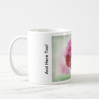 Burgundy Red Pansy Flower Mug