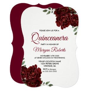 Red Quinceanera Invitations Announcements Zazzle