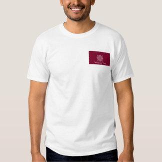 Burgundy Red Vintage Monogram Business T-shirt