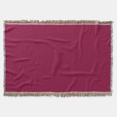 Burgundy Red-Violet Throw Blanket