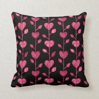 Burgundy And Black Pillows - Decorative & Throw Pillows Zazzle