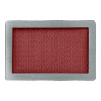 Burgundy Red Weave Look Belt Buckle