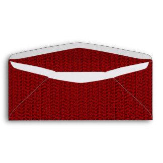 Burgundy Red Weave Mesh Look Envelope