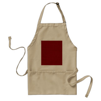 Burgundy Red Weave Pattern Image Apron
