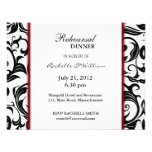 Burgundy Rehearsal Dinner Card Personalized Announcements
