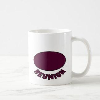 Burgundy Reunion Design Coffee Mug