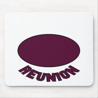 Burgundy Reunion Design Mouse Pad