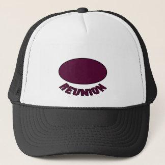 Burgundy Reunion Design Trucker Hat