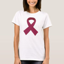 Burgundy Ribbon Awareness T-Shirt