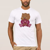 Burgundy Ribbon Bear T-Shirt