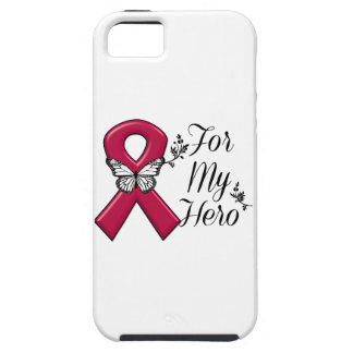 Burgundy Ribbon For My Hero iPhone SE/5/5s Case