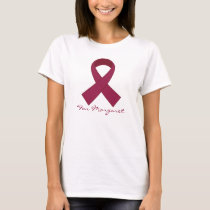 Burgundy Ribbon Multiple Myeloma Awareness Tee