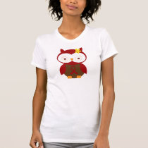 Burgundy Ribbon Owl Awareness T-Shirt