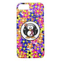 Burgundy Ribbon Penguin iPhone 8/7 Case