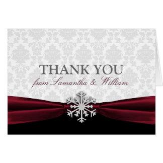 Burgundy Ribbon Thank You Card