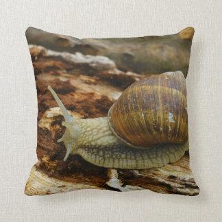 Burgundy Roman Edible Snail Helix Pomatia Throw Pillow