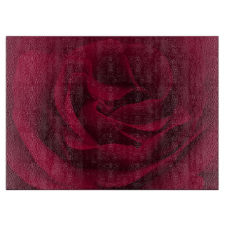 Burgundy Rose Cutting Board