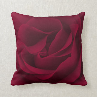 Burgundy Rose Magnified Throw Pillow