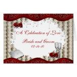 Burgundy Rose Silver Wedding Invitation Card