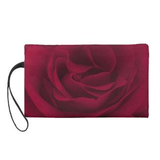 Burgundy Rose Wristlet