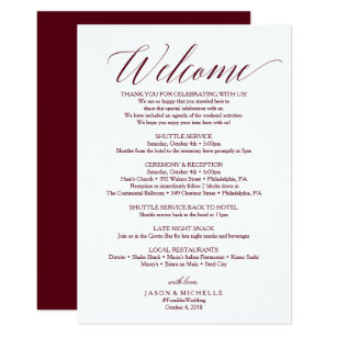 Welcome Wedding Invitations Zazzle