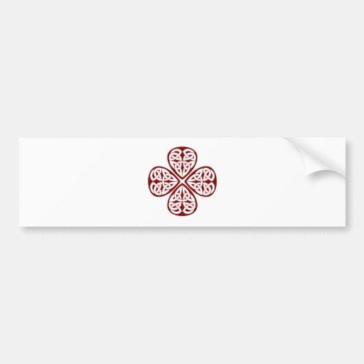 burgundy shamrock celtic knot bumper stickers