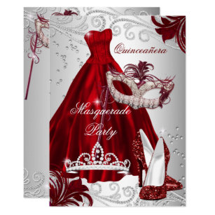 masquerade quinceañera invitations zazzle