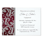 Burgundy silver engagement anniversary CUSTOM Personalized Announcements