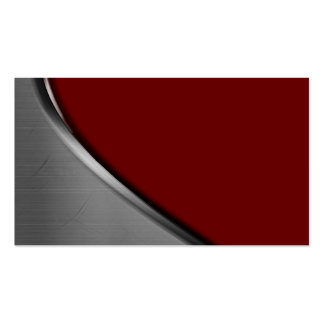 Burgundy Silver Metal Curve Business Cards