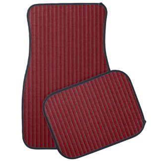 Burgundy Silver Stripe Shade Fade Car Mats