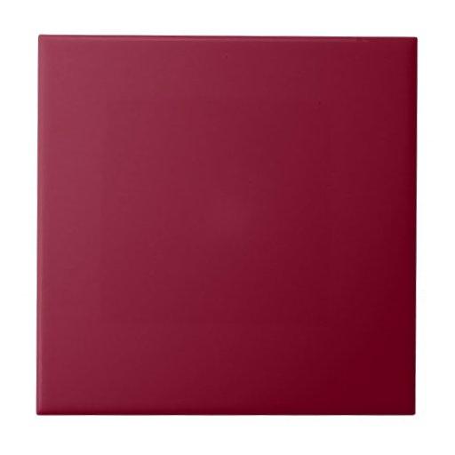 Burgundy Small Square Tile Zazzle