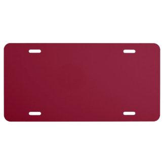 BURGUNDY (solid color) ~ License Plate