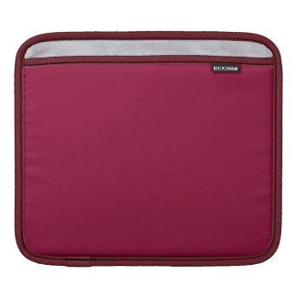 Burgundy Solid Color Sleeve For iPads
