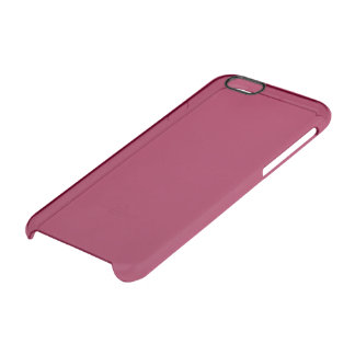 Burgundy Solid Color Uncommon Clearly™ Deflector iPhone 6 Case