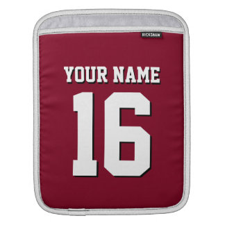 Burgundy Sporty Team Jersey Sleeve For iPads