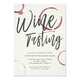 Burgundy Stains - Wine Tasting Party Card
