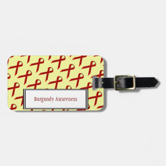Burgundy Standard Ribbon by Kenneth Yoncich Bag Tag