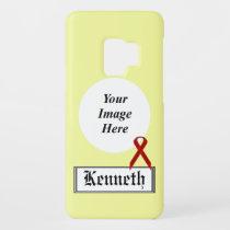 Burgundy Standard Ribbon by Kenneth Yoncich Case-Mate Samsung Galaxy S9 Case