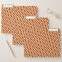 Burgundy Standard Ribbon by Kenneth Yoncich File Folder