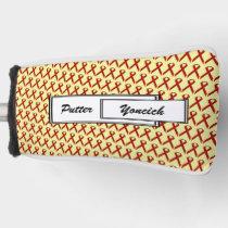 Burgundy Standard Ribbon by Kenneth Yoncich Golf Head Cover