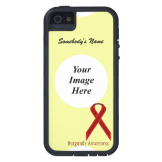 Burgundy Standard Ribbon by Kenneth Yoncich iPhone SE/5/5s Case