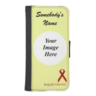 Burgundy Standard Ribbon by Kenneth Yoncich iPhone SE/5/5s Wallet
