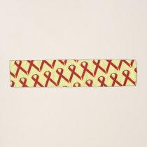 Burgundy Standard Ribbon by Kenneth Yoncich Scarf
