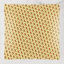 Burgundy Standard Ribbon by Kenneth Yoncich Trinket Trays