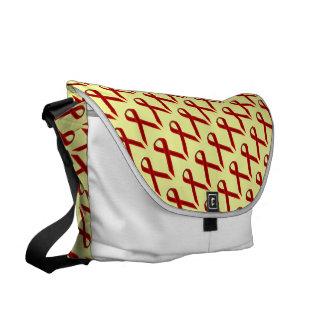 Burgundy Standard Ribbon Courier Bag