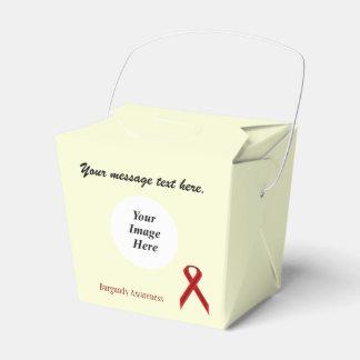 Burgundy Standard Ribbon Template Favor Box