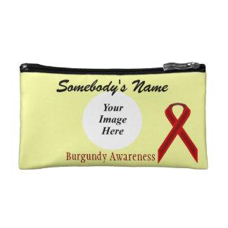 Burgundy Standard Ribbon Template Makeup Bag